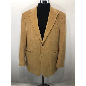 RALPH LAUREN Tan Corduroy Jacket Blazer Size 40R